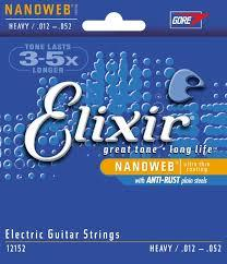 Elixir 12152 Heavy 12-52 Nickel plated steel with nanoweb coating