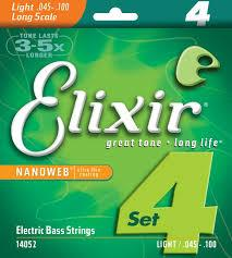 Elixir 14052 Lights 4string 45-100 Nickel plated steel with nanoweb coating