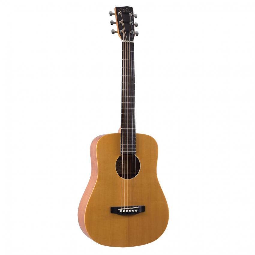 RECORDING KING EZ Tone Solid Spruce Top Guitar, Mini-Dreadnought with Gig Bag